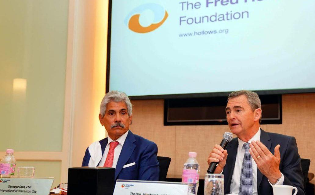 """دبي منصة للحد من العمى في العالم; """"فريد هولوز""""، الإنمائية الدولية تفتتح مقرها الإقليمي في المدينة العا لمية للخدمات الإنسانية"""