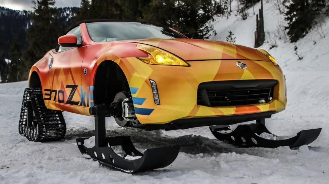 """سيارة """"نيسان 370Zki"""" تضفي بعداً جديداً للرياضات الشتوية في معرض"""